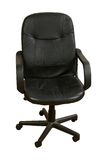 Black Leather Office Chair royalty free stock photos