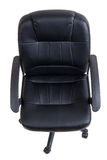 Black leather office chair isolated Royalty Free Stock Images