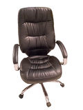 Black leather office chair Royalty Free Stock Images