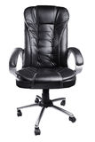 Black Leather Office Chair isolated on white Stock Image