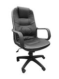 Black leather office chair isolated on white background Royalty Free Stock Image