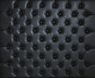 BLACK LEATHER PADDED STUDDED LUXURY BACKGROUND Stock Images