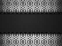 Black leather panel on black mesh landscape Stock Image