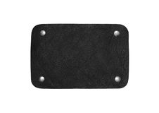 Black leather patch Stock Photography