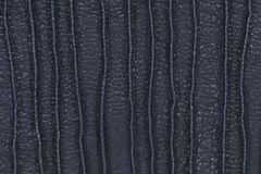 Black leather for pattern and background Stock Photos