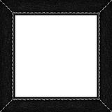 Black leather picture frame Stock Photo