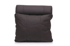 Black leather pillow Stock Photos