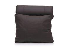 black leather pillow στοκ φωτογραφίες
