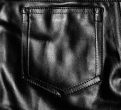 Black leather pocket Royalty Free Stock Images