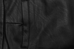 Black leather pocket Royalty Free Stock Photos
