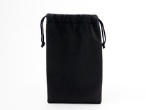 Black leather pouch Stock Photos