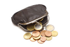 Black leather purse Royalty Free Stock Photo