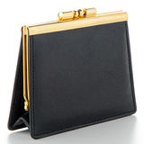Black Leather Purse Royalty Free Stock Photos