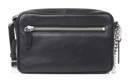 Black Leather Purse isolated Stock Photos