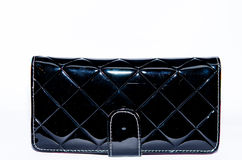 Black leather purse Royalty Free Stock Image