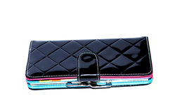 Black leather purse Royalty Free Stock Photography