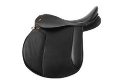 Black leather saddle Stock Image