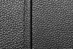 Black leather with seam Royalty Free Stock Image
