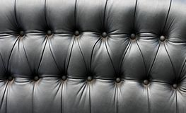 Black leather seat in an old car Royalty Free Stock Image