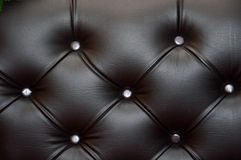 Black leather seat upholstery. Texture and pattern of black leather seat upholstery Royalty Free Stock Image