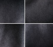 Black leather set Royalty Free Stock Photos