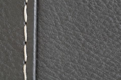 Black leather sewing background Royalty Free Stock Image