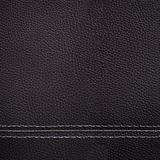 Black leather sewing texture Royalty Free Stock Images