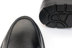 Black leather shoe Stock Photography