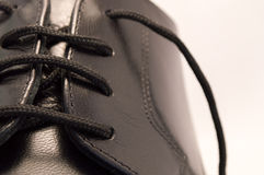 Black leather shoe Stock Photography