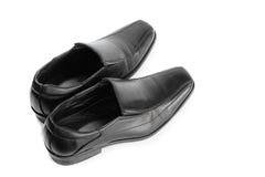 Black leather shoe Royalty Free Stock Photos