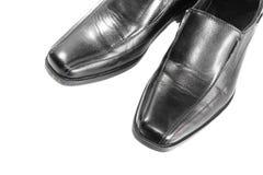 Black leather shoe on white background. Royalty Free Stock Photography