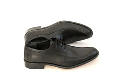 Black Leather Shoes Royalty Free Stock Photography