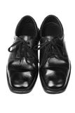 Black Leather Shoes Royalty Free Stock Images