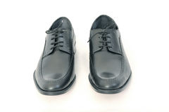 Black Leather Shoes. On white background Royalty Free Stock Photography