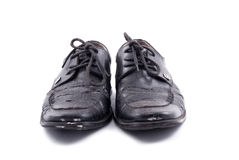 Black Leather Shoes Royalty Free Stock Photos