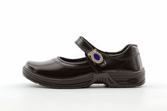 Black leather shoes. Royalty Free Stock Photo