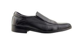 Black leather shoes isolated on white background Stock Image