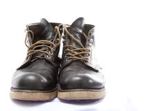 Black leather shoes for men Royalty Free Stock Image