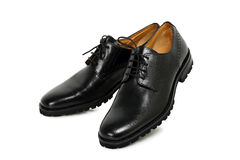 Black leather shoes Stock Image