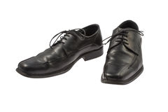 Black Leather Shoes Stock Images