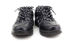Black leather shoes on a white background Stock Photography