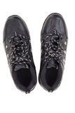 Black leather shoes on a white background Stock Images
