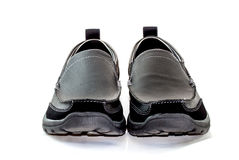 Black leather shoes on white background Royalty Free Stock Photos
