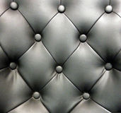 Black leather sofa background Royalty Free Stock Photos