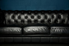 Black Leather Sofa Royalty Free Stock Image