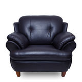 Black leather sofa Stock Image