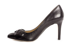 Black Leather Stilettos #1 Royalty Free Stock Image