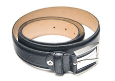Black leather strap Stock Image