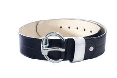 Black leather strap Stock Photo