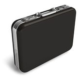 Black leather suitcase Royalty Free Stock Photography